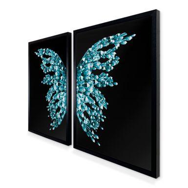 Quadro-Decorativo-Asas-Borboleta-Azul-e-Preto-Preta