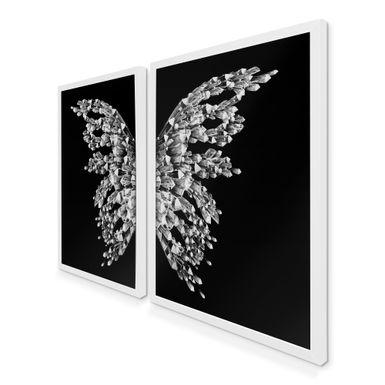 Quadro-Decorativo-Asas-Borboleta-Diamante-e-Preto-Branca